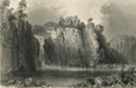 Great Falls NJ, 19th century steel engraving by William Henry Barlett