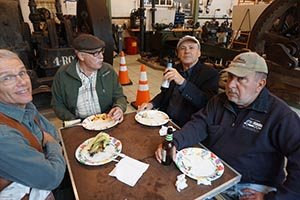 Roebing Society workmen at lunch